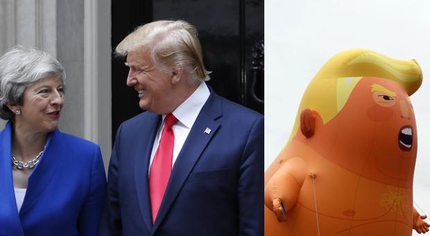 Trump incontra May: «Pronti ad accordo post Brexit». Il sindaco Khan: «È il volto dell'ultradestra»