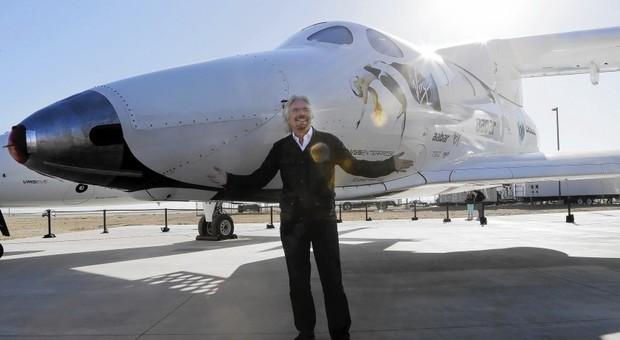 Il patron della Virgin Galactic sir Richard Branson