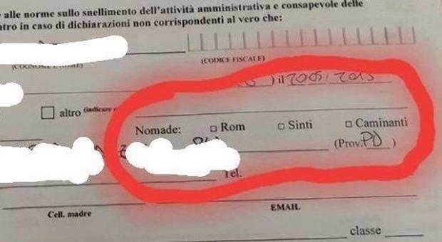 Scuola elementare richiede l'etnia ai bimbi nomadi: «Sei sinti o rom?». Bufera in Veneto