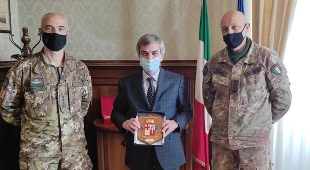 """Il prefetto di Perugia riceve i militari dell'Esercito impegnati nell'operazione """"Strade Sicure"""""""