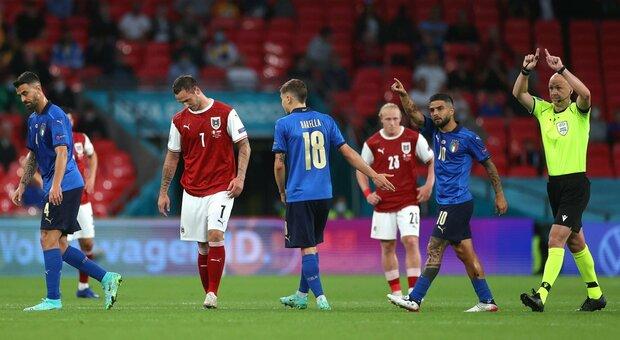 Italia-Austria, gol di Arnautovic annullato dal Var. Poco prima l'esultanza  polemica