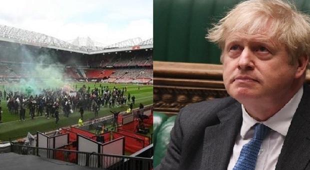 Superlega, Boris Johnson commenta le proteste all'Old Trafford: «Tifosi violenti, ma li comprendo»