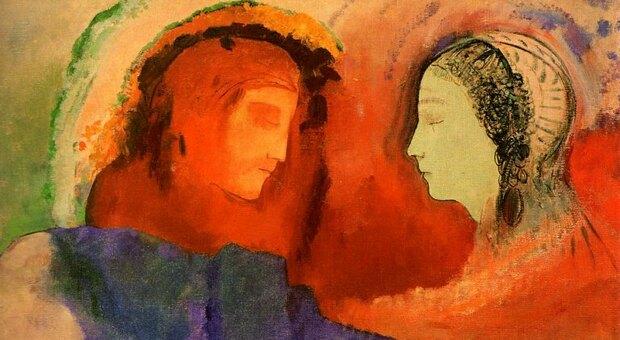 Odilon Redon, Dante e Beatrice, 1914.