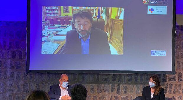 Zingaretti, Franceschini e Donetti alla presentazione del progetto