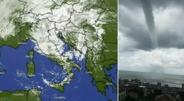 Meteo Italia, il ciclone che ha colpito la Germania punta il nostro Paese. Incredibile tromba d'aria ad Ancona