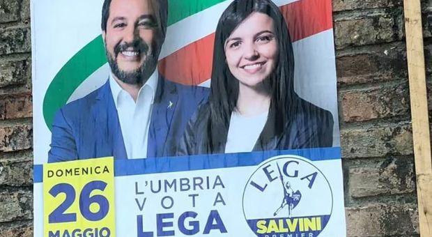 «L'Umbria vota Lega». Gaffe del Carroccio, manifesti esposti a Urbino nelle Marche
