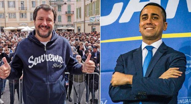 Salvini: Europee referendum per Lega. Di Maio: l'ultimo a parlare così fu Renzi