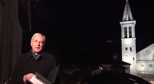 Monsignor Renato Boccardo, arcivescovo di Spoleto-Norcia e presidente Ceu