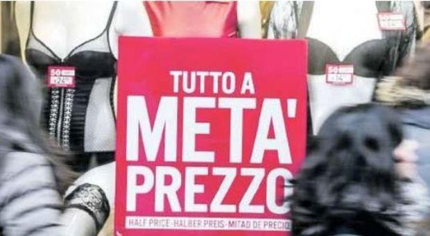 A Roma si moltiplicano le svendite prima dell'inizio dei saldi
