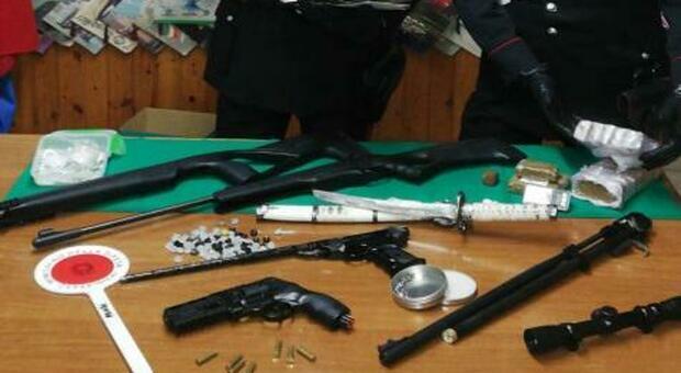 Cocaina, hashish e armi: tre arresti dei carabinieri tra Terracina e Fondi