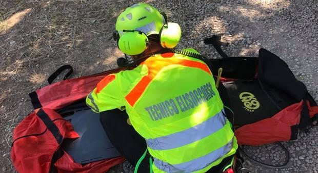 Terni, giornata di infortuni Cinque ragazzi tratti in salvo in Abruzzo