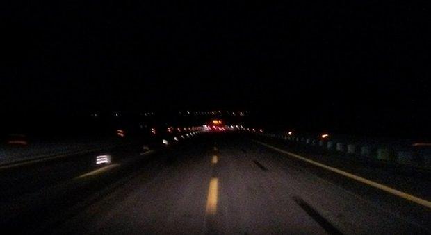Auto investe cinghiali in autostrada, due morti nella notte sulla A26