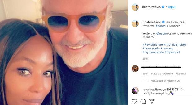 Briatore dimentica il Covid con Naomi Campbell: «Ieri è venuta a trovarmi a Monaco»