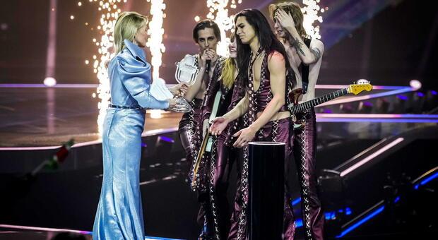 Maneskin trionfano a Eurovision 2021, Damiano: «È solo il primo passo. Il prossimo? Il Superbowl. Droga? Non ne faccio uso»