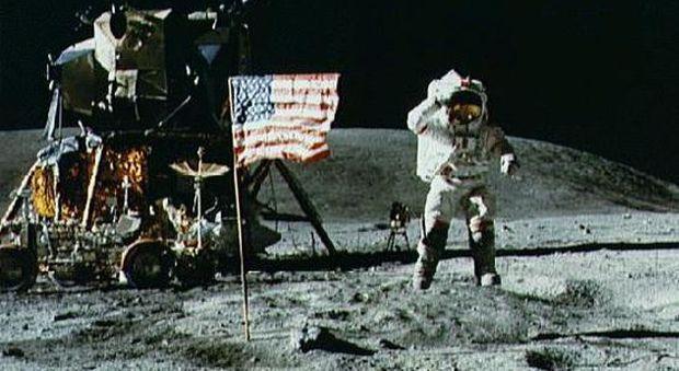 Neil Armstrong sul suolo lunare il 20 luglio 1969