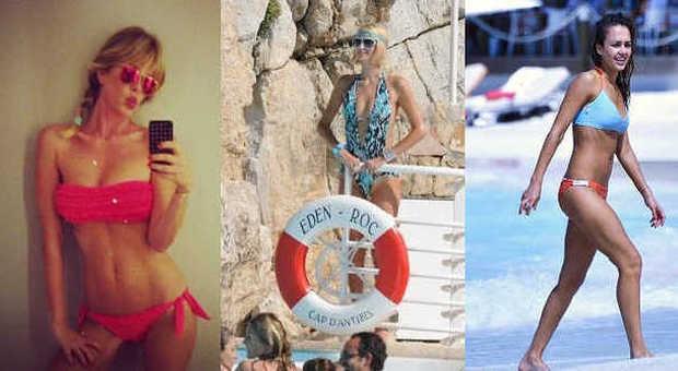 Sognare Costume Da Bagno Rosso : Da alessia marcuzzi a paris hilton torna il bikini con frange e