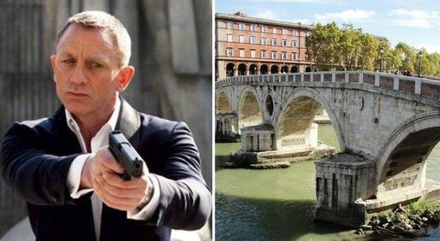 """James Bond, tutti i ciak di 007 a Roma Su Ponte Sisto la scena clou di """"Spectre"""""""