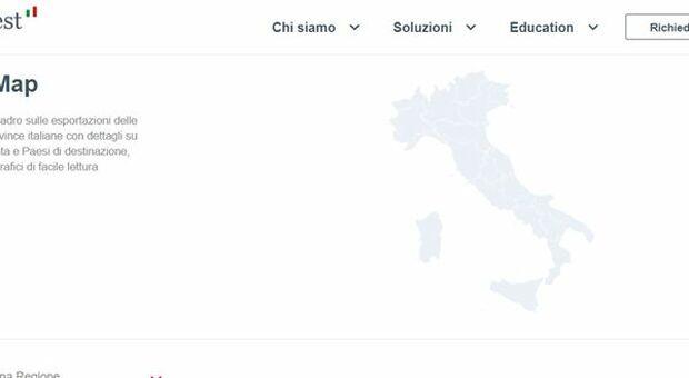 Cartina Italia Interattiva Html.Sace Lancia La Italy Map Mappa Interattiva Per Monitorare Andamento Export