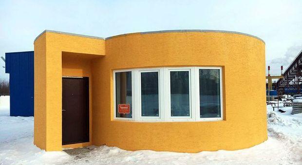 immagine Russia, ecco la casa stampata in 3D e in 24 ore: costa solo diecimila euro