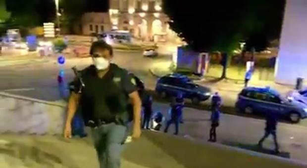 Polizia dopo una rissa a Fontivegge in un video postato su Facebook