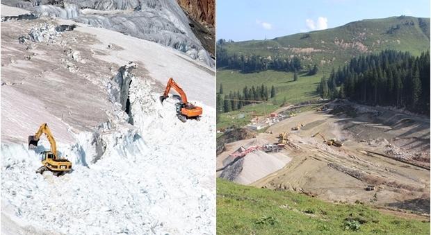 Austria, ambientalisti in rivolta: «Distruggono un ghiacciaio per una pista da sci»