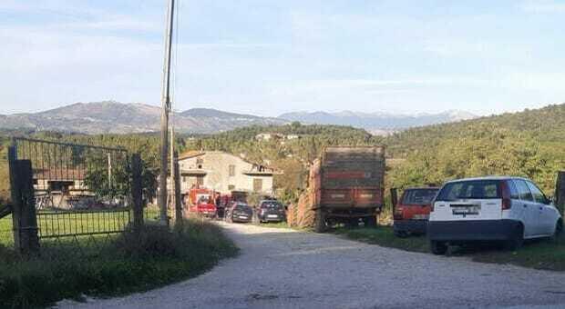 Il luogo della tragedia a Sgurgola
