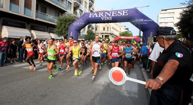 Pescara, domani si corre la mezza maratona: la mappa della città off-limits