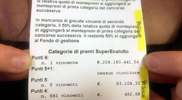 SuperEnalotto, nessuno ha ancora riscosso i 209 milioni (e il tempo stringe)