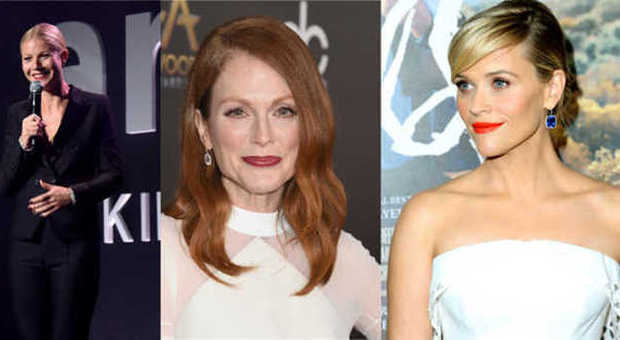 Da sinistra, Gwyneth Paltrow, Julianne Moore e Reese Witherspoon