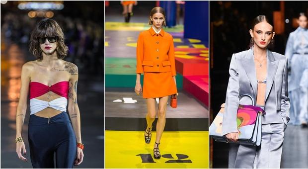 Sfilate, le 4 tendenze per la primavera estate 2022: dal ritorno della vita bassa alla minigonna. E sotto il blazer? (Quasi) nulla