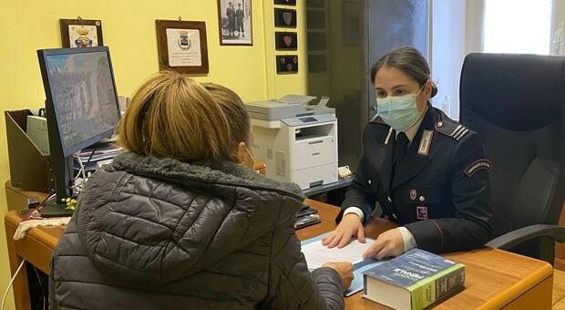 Ylenia Cirilli primo comandante di stazione donna della provincia di Viterbo