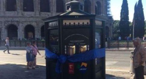 """Roma, nuovo """"nasone"""" elettronico al Colosseo: acqua gratis sia naturale che gassata"""