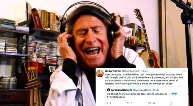 The Voice Senior, il papà di Giorgia Giulio Todrani positivo al Covid canta da casa ma viene eliminato: scontro con Loredana Bertè
