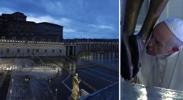 Coronavirus, Papa Francesco prega a San Pietro: «È tempo di reimpostare la rotta della vita»