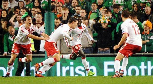 Irlanda-Danimarca 1-5, triplo Eriksen: i danesi volano al Mondiale