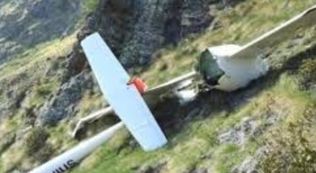Aliante cade nel Novarese, poche speranze per il pilota