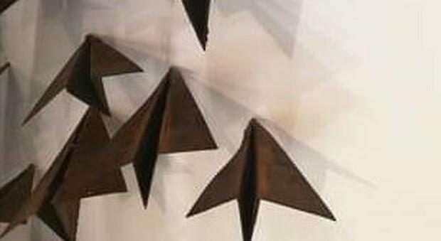 Una delle installazioni in mostra all'Esquilino