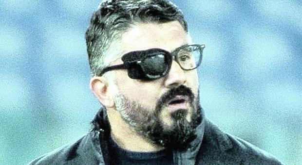 Gennaro Gattuso in campo con la benda