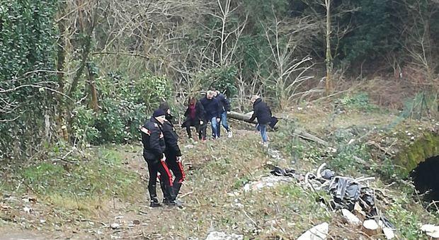 Il luogo del rinvenimento del cadavere a Gorizia