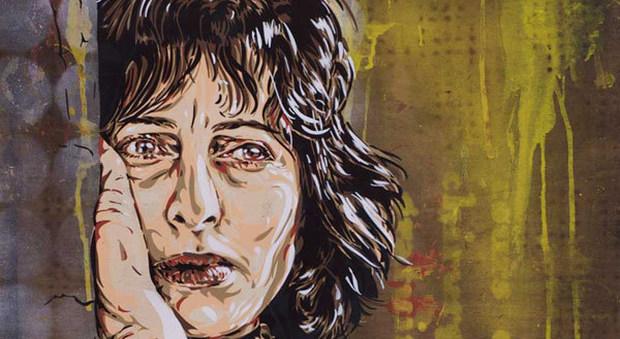 Anna Magnani opera d'arte in strada