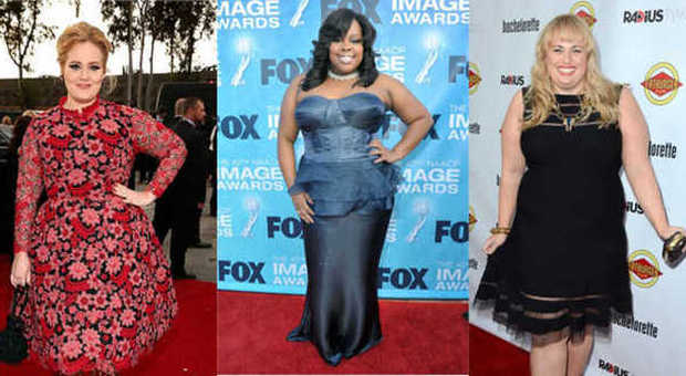 Adele, Amber Riley e Rebel Wilson curvy fashion sul red carpet