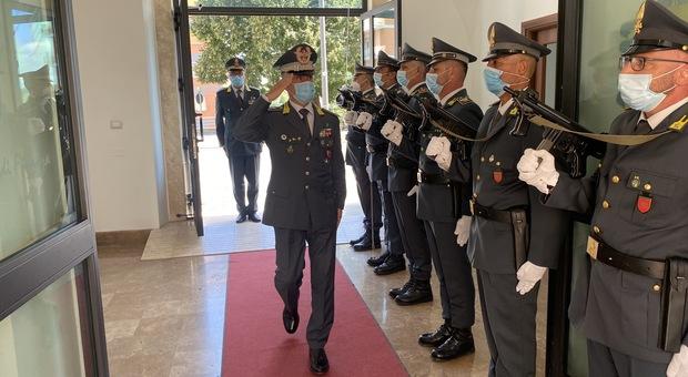 Guardia di Finanza, il generale Pomponi in visita al Comando di Frosinone