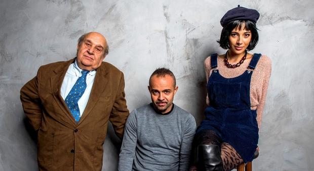 """Luis Molteni, Andrea De Rosa e Valeria Nardilli, protagonisti di """"Coffeeshop"""", ultimo spettacolo scritto da Andrea De Rosa."""