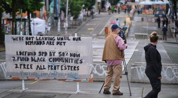 Manifestazione a Seattle