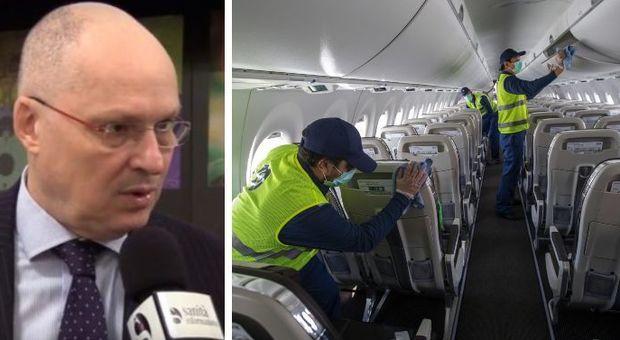 Coronavirus, Ricciardi: «Prendere l'aereo? È una cosa ancora da non fare»