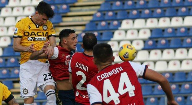 Lasagna risponde a Lykogiannis: pari tra Cagliari e Udinese