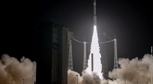 Il decollo del satellite Prisma dalla base spaziale di Kourou