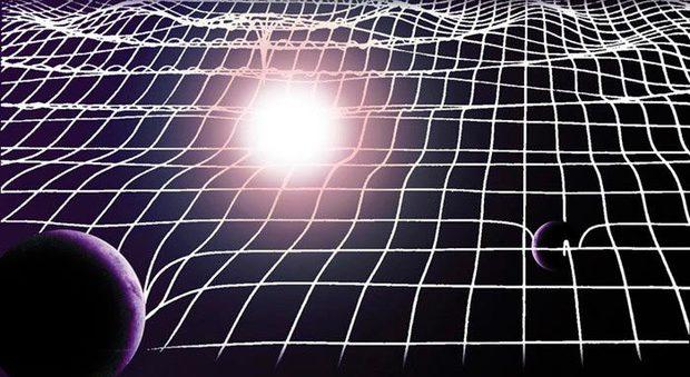 Una visione artistica delle onde gravitazionali