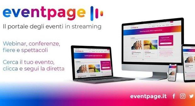 Dai concerti ai convegni: apre Eventpage, il primo portale gratuito dedicato agli eventi in streaming