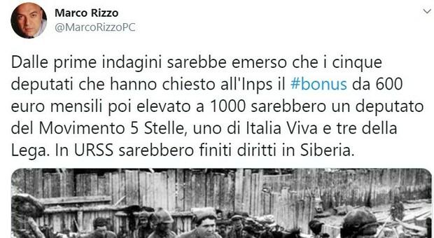 I furbetti di Montecitorio «in Urss sarebbero finiti diritti in Siberia»: il tweet di Marco Rizzo, segretario del Partito comunista